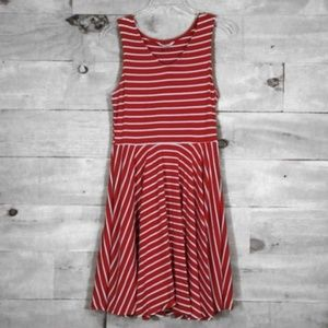 Charming Charlie Red and White Striped Dress